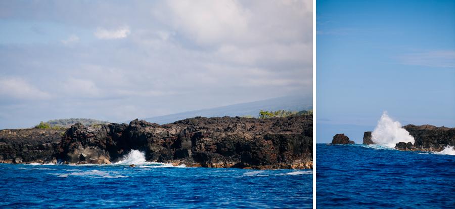island of Hawaii rocky western coastline