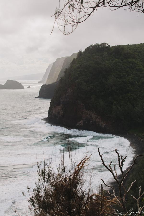 Big Island of Hawaii north shore cliffs Pololu Valley Makapala, Hawaii