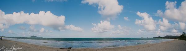 Kailua Beach Panorama Oahu Hawaii