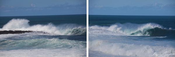Oahu north shore big waves crashing
