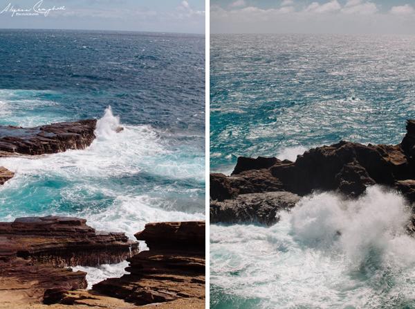 Oahu Hawaii blowhole lava tube waves crashing south shore