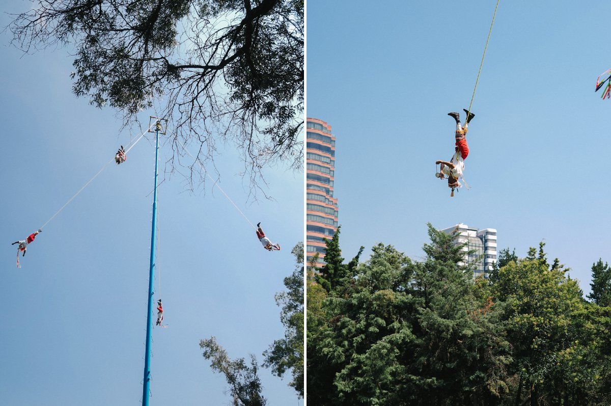Mexico City leaping pole ceremony