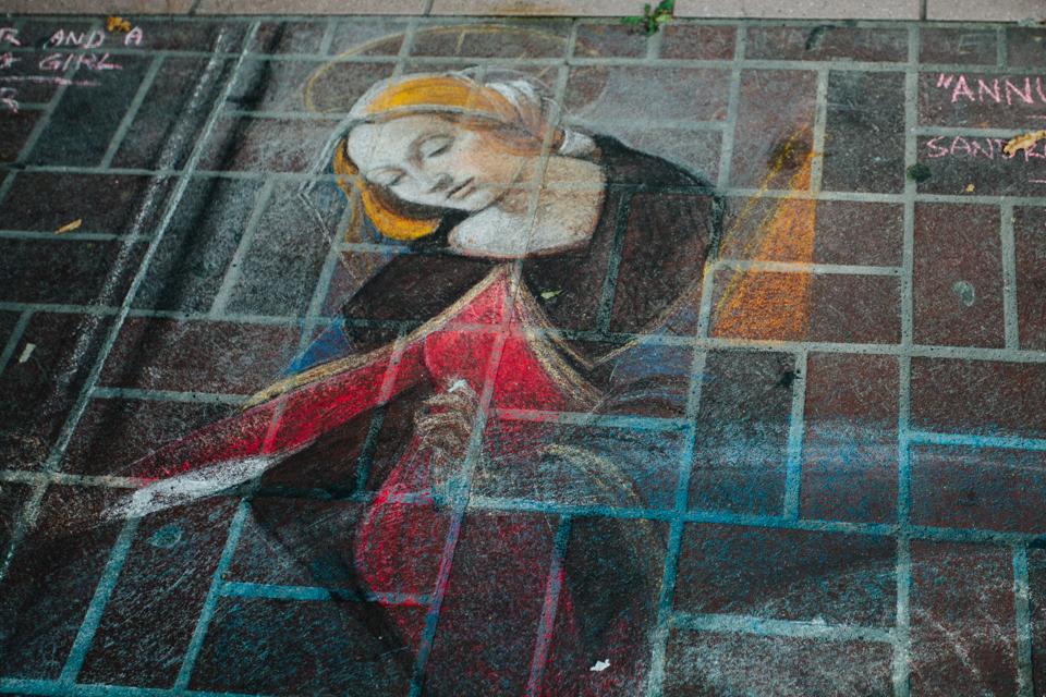 chalk art festival Victoria Canada