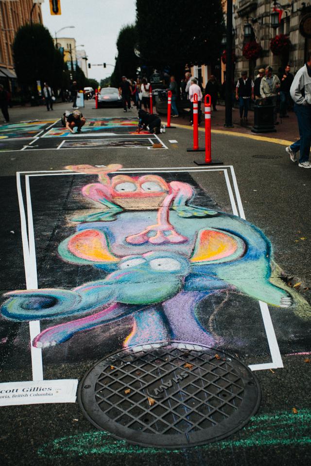 international chalk art festival in victoria canada