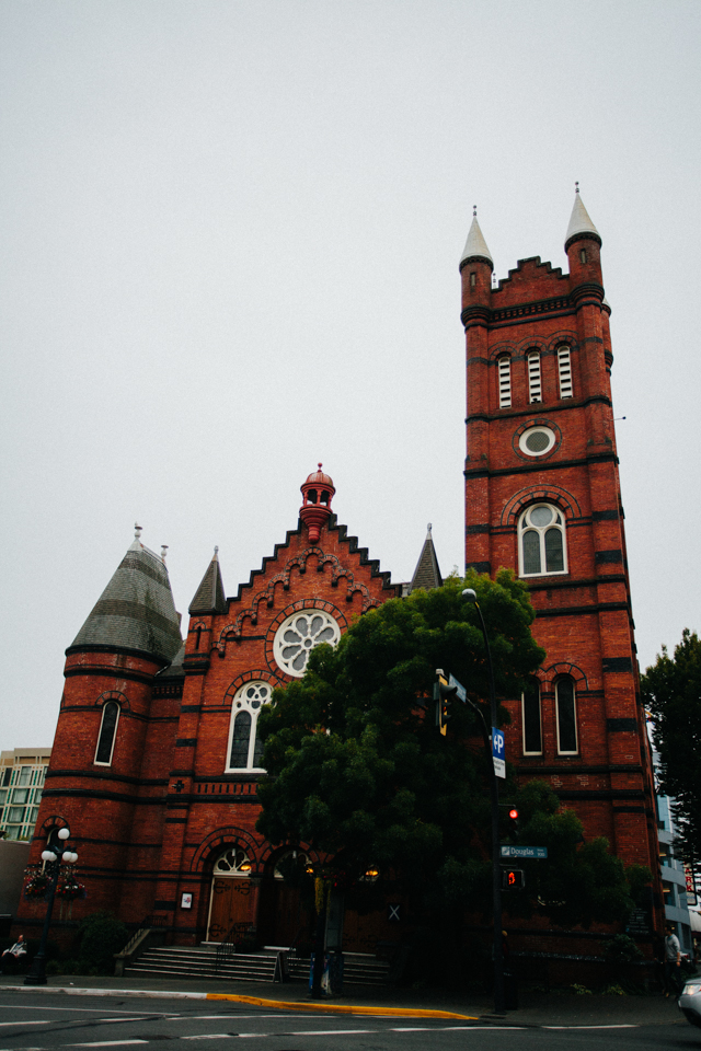 victoria canada cathedral from the outside
