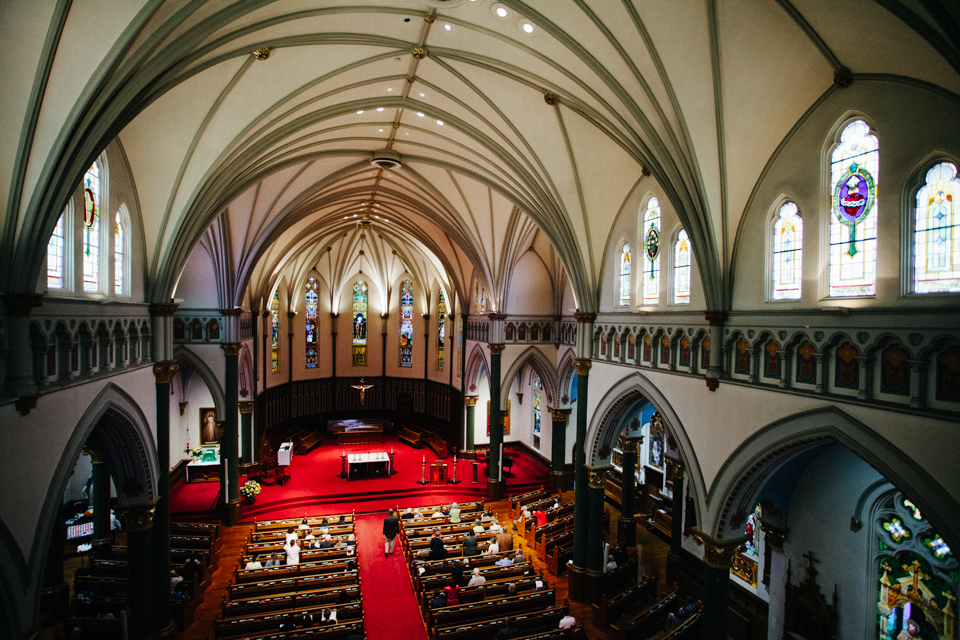 inside victoria canada cathedral