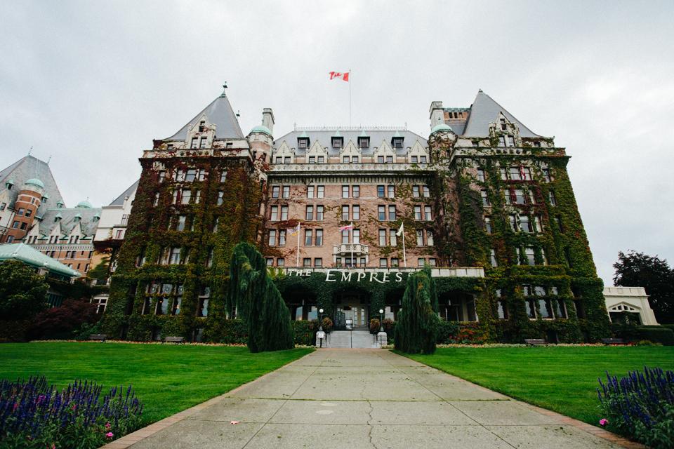 The ivy encrusted Empress Hotel Victoria Canada