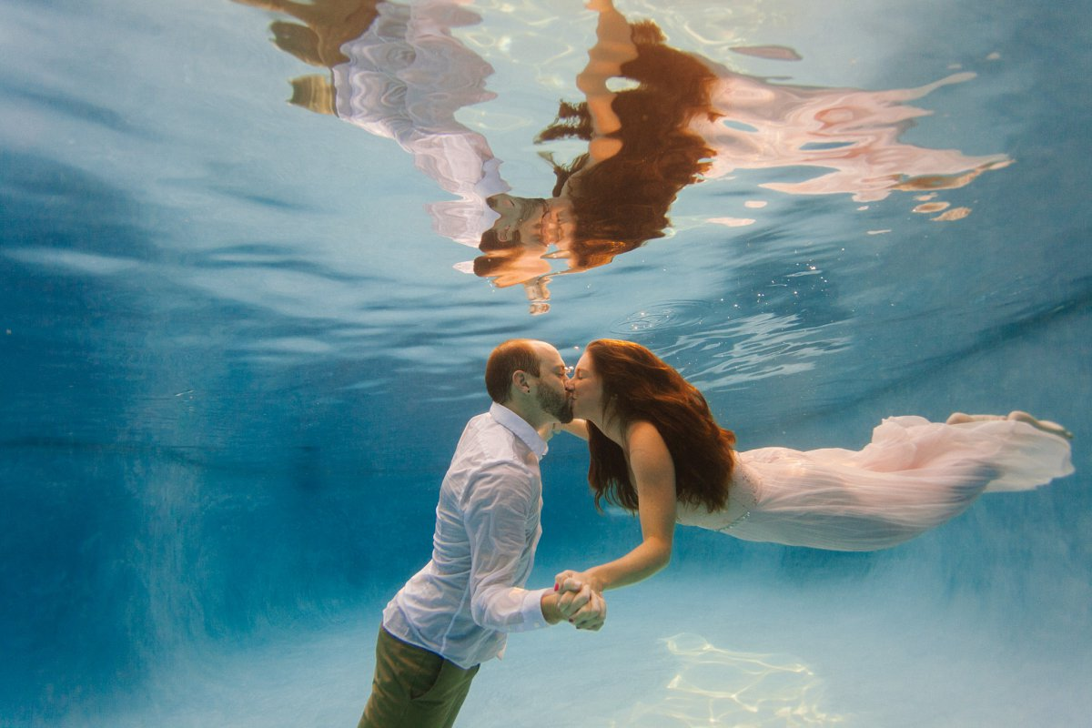 underwater engagement photos AZ