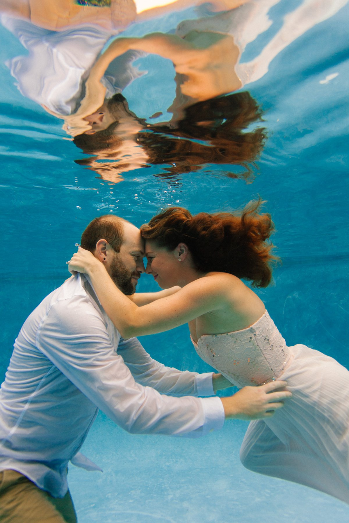 underwater engagement photos in Phoenix