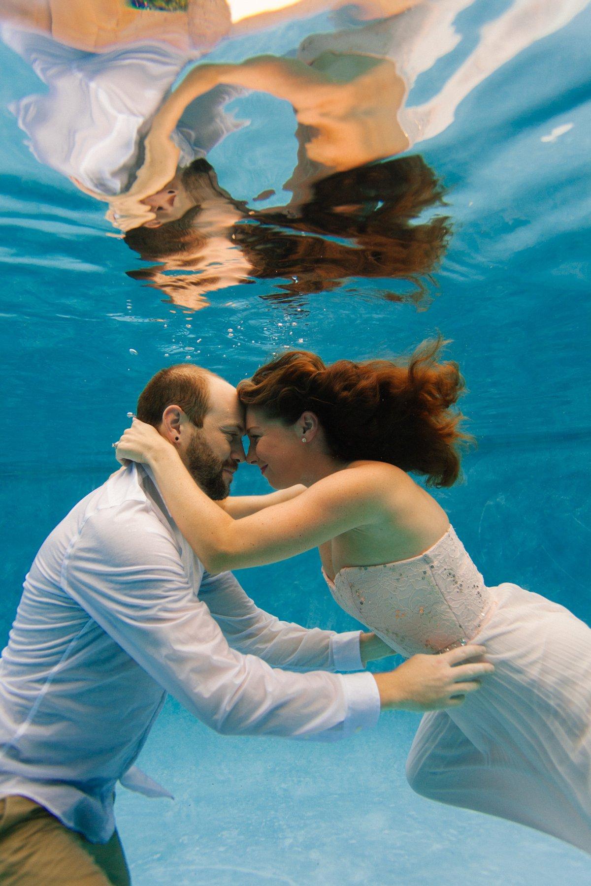 underwater engagement photos in Phoenix