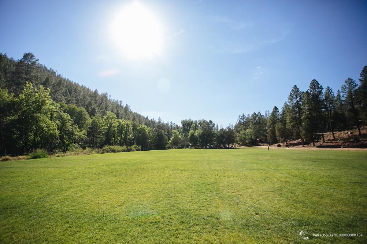open grass field at Camp Tontozona summer camp in Payson Arizona