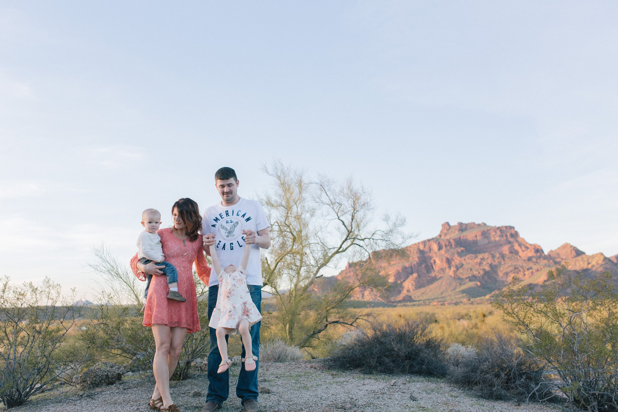 Mesa natural candid family portraits