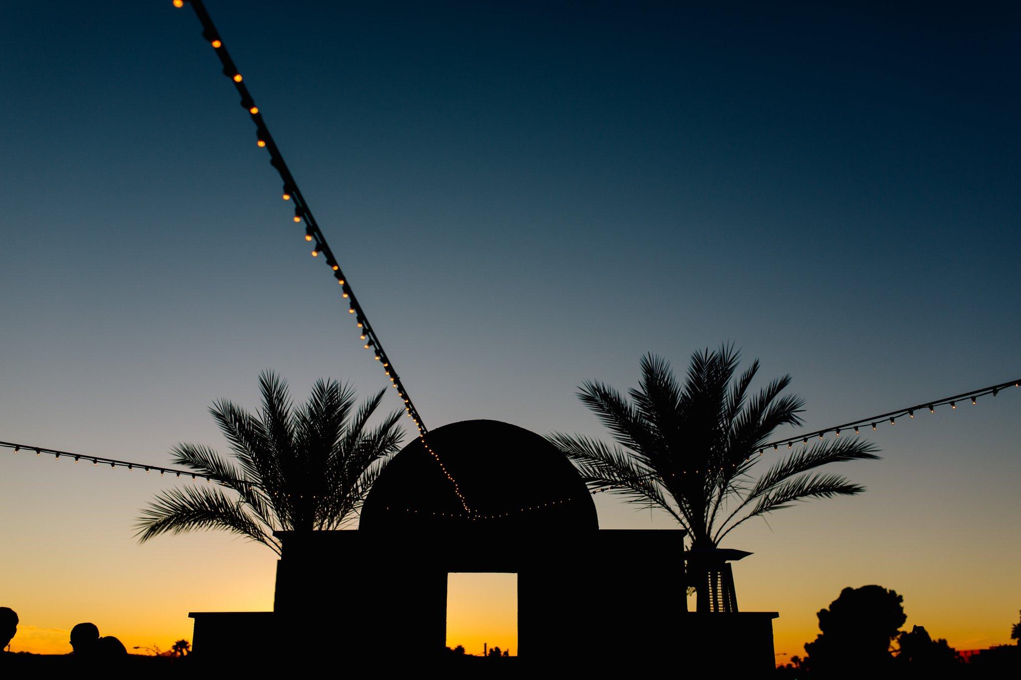 Arizona Natural History Museum at sunset wedding photographer