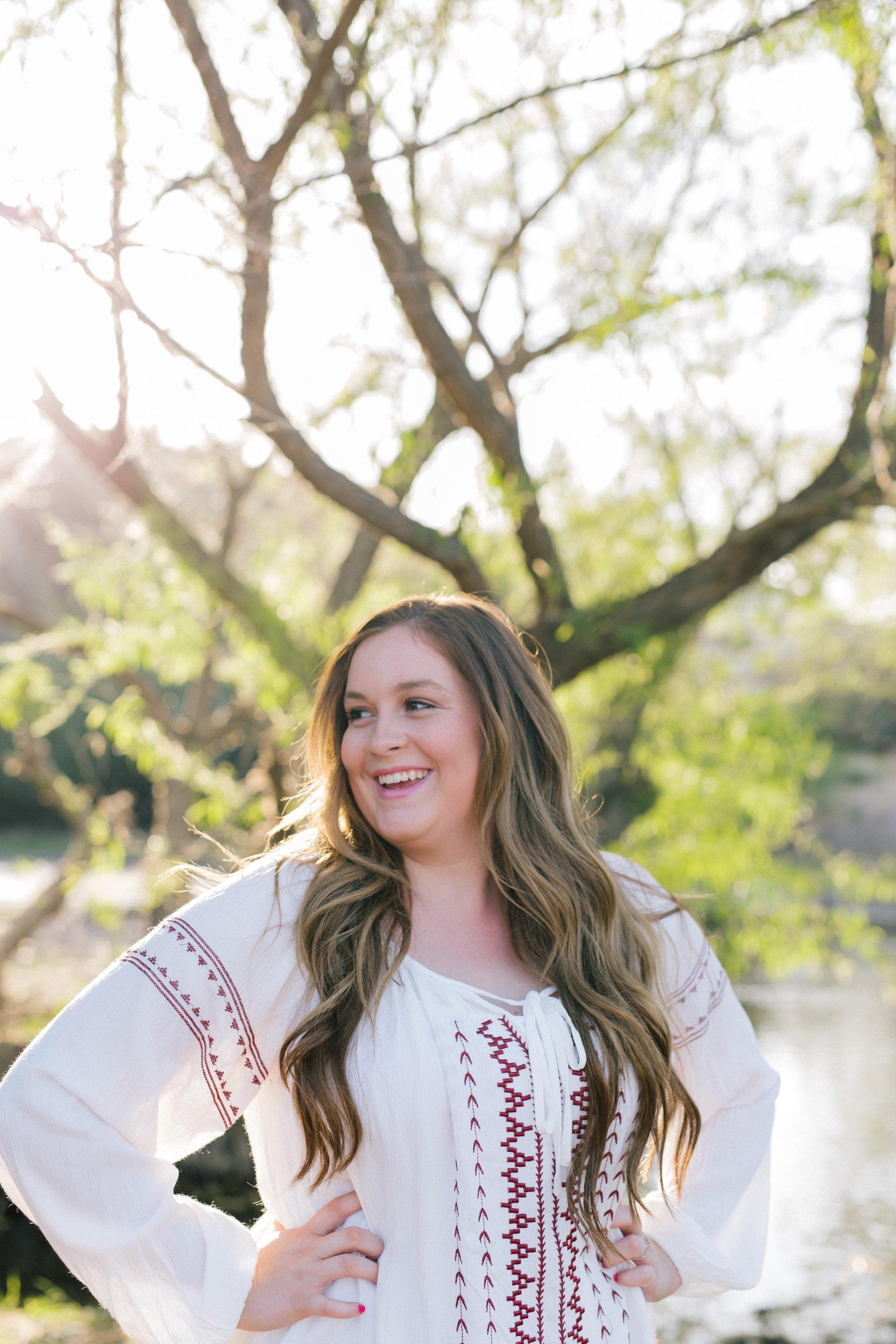 natural authentic fun outdoor candid high school senior portraits in Arizona
