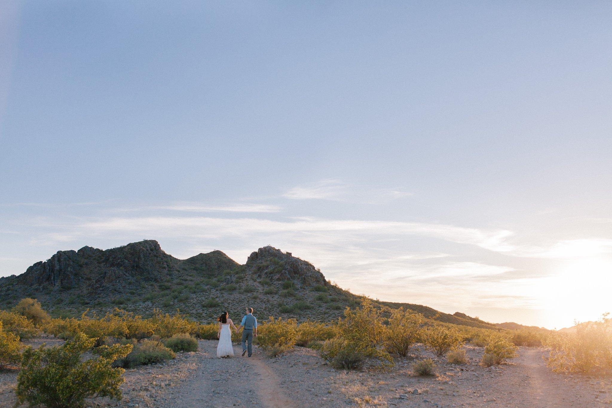 Arizona desert scenic elopement photographer