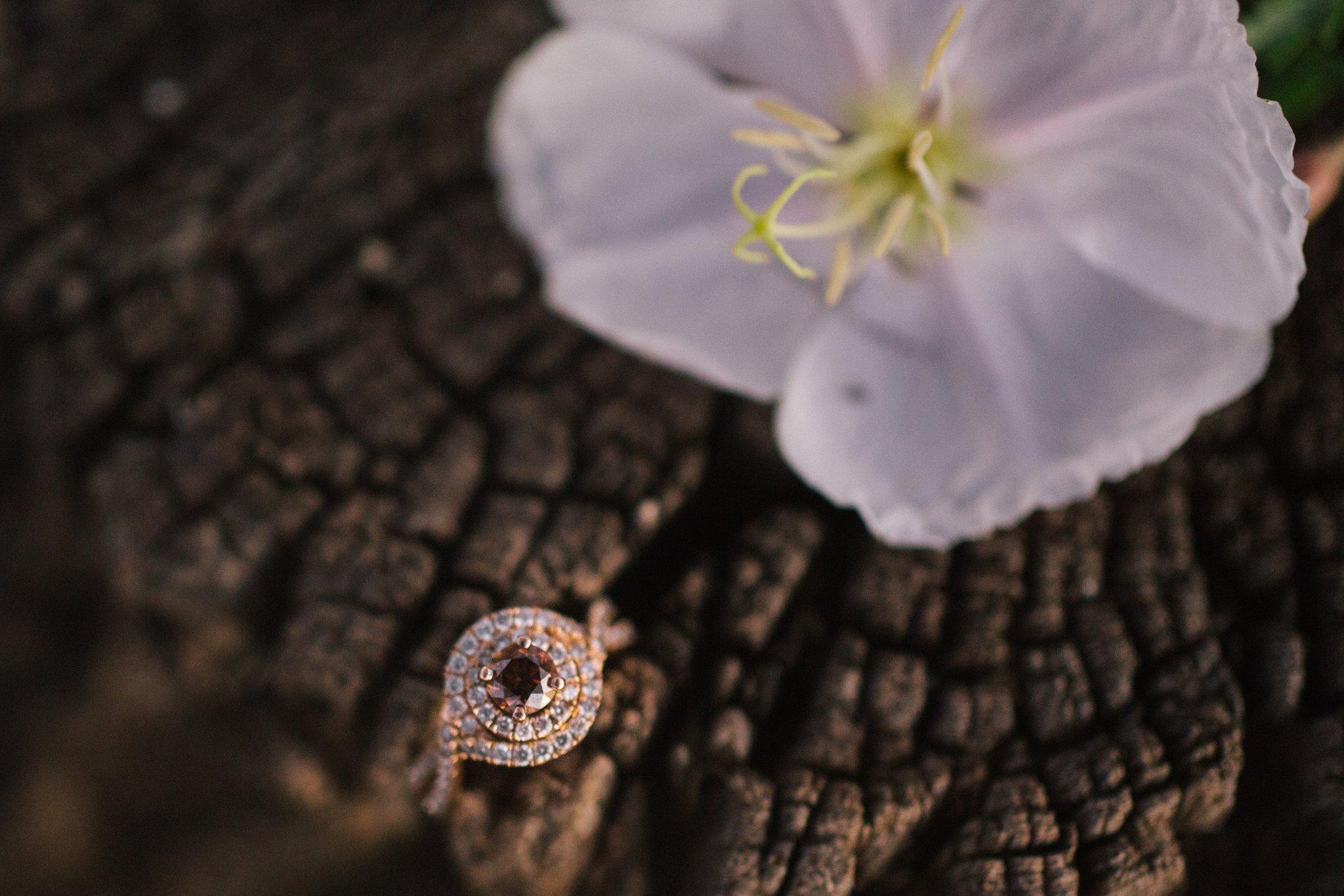 chocolate diamond ring shot Mesa engagement photographer
