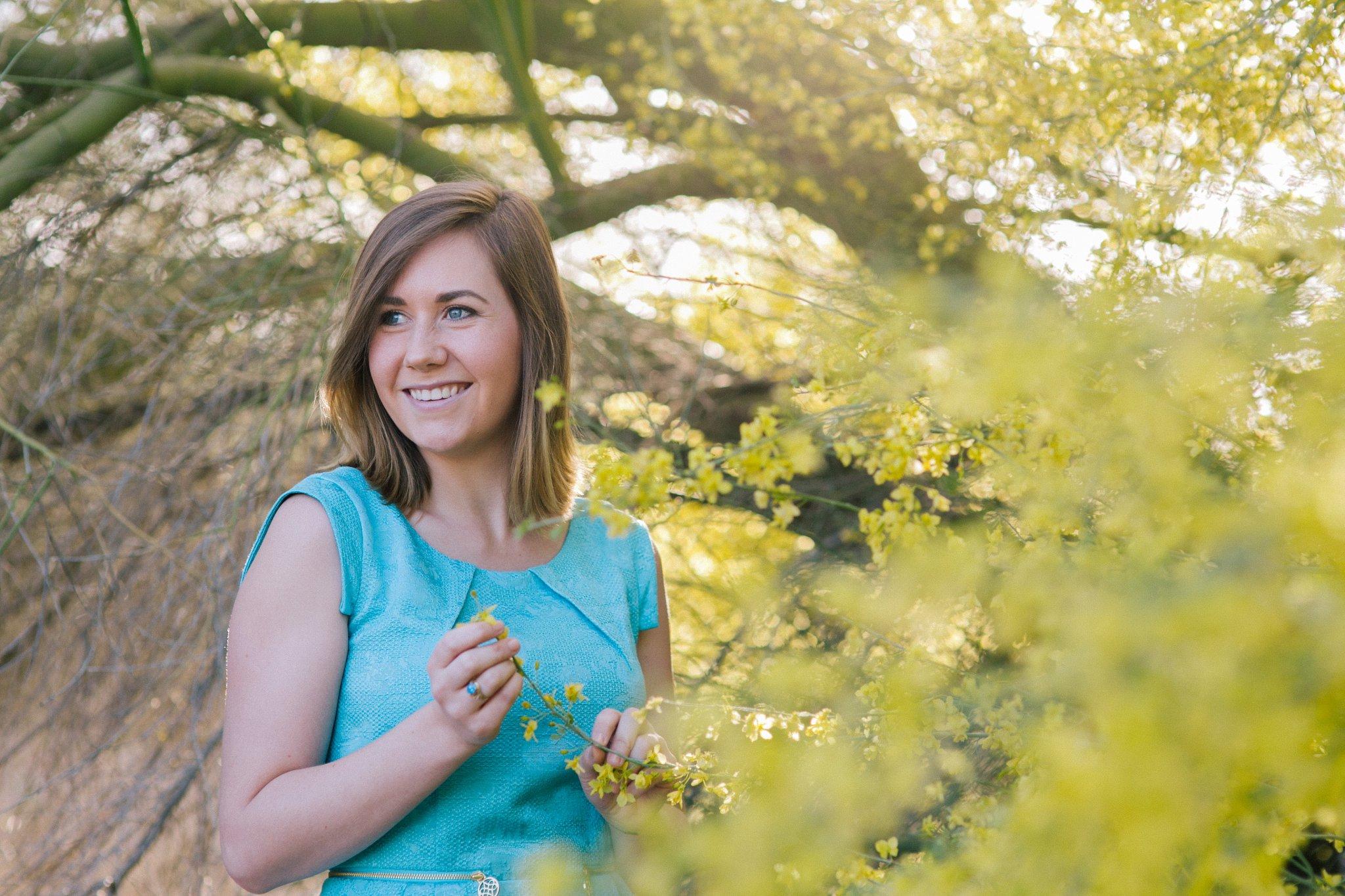 outdoor nature college graduation portraits Tempe