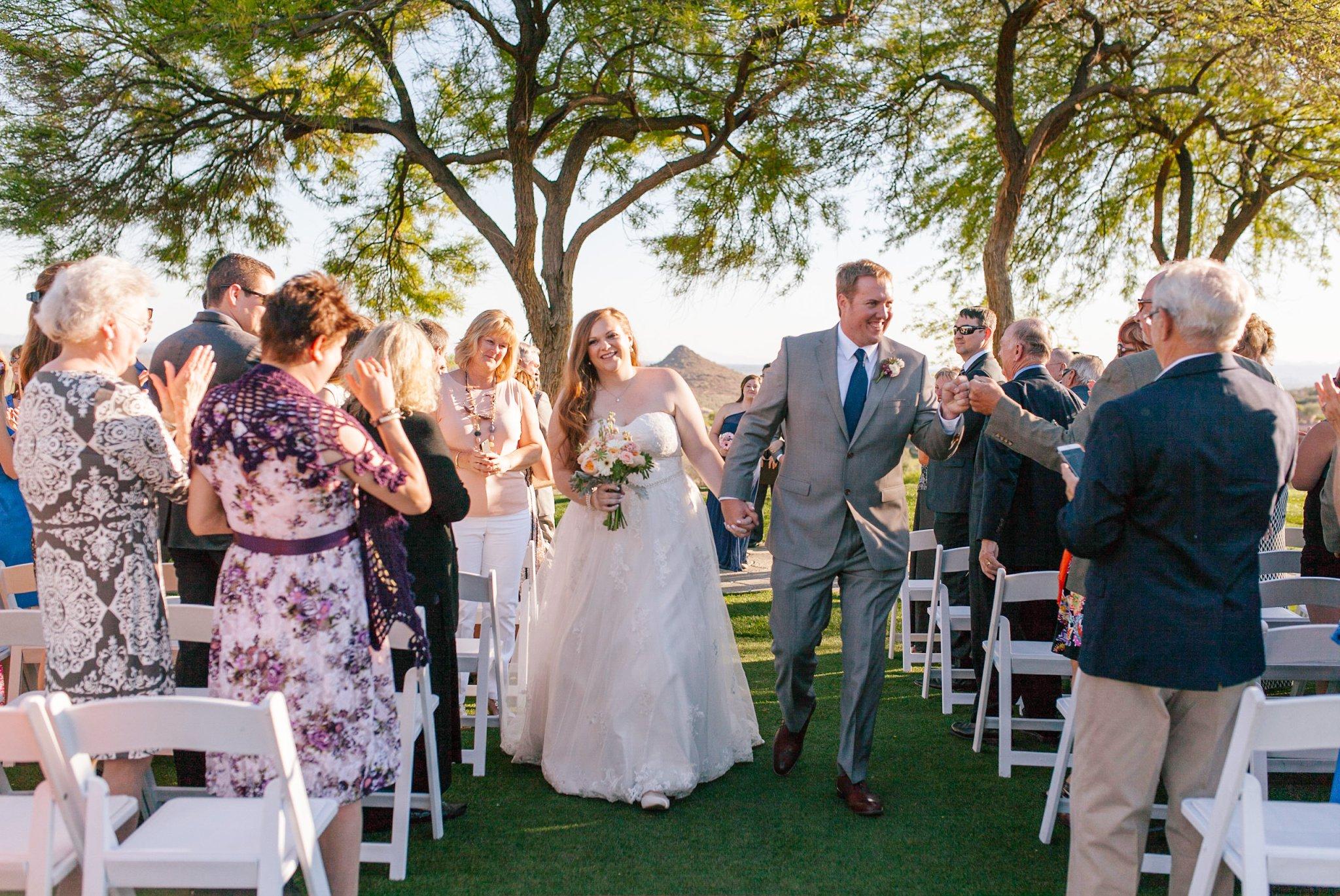 Eagle Mountain golf course wedding ceremony