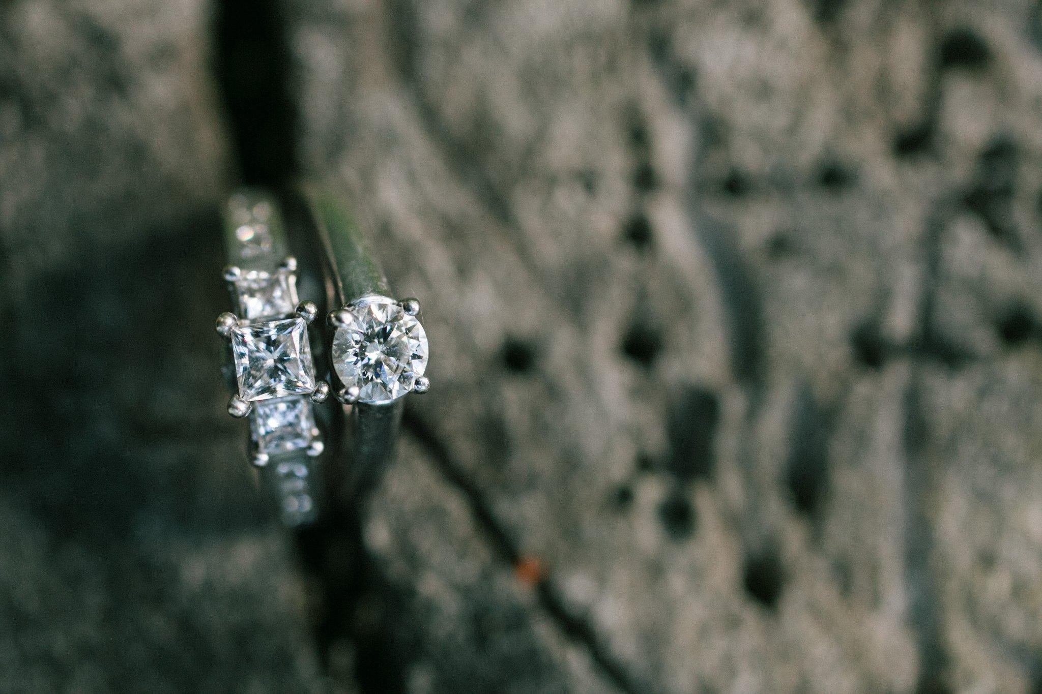 two brides engagement rings Arizona same sex wedding friendly photographer