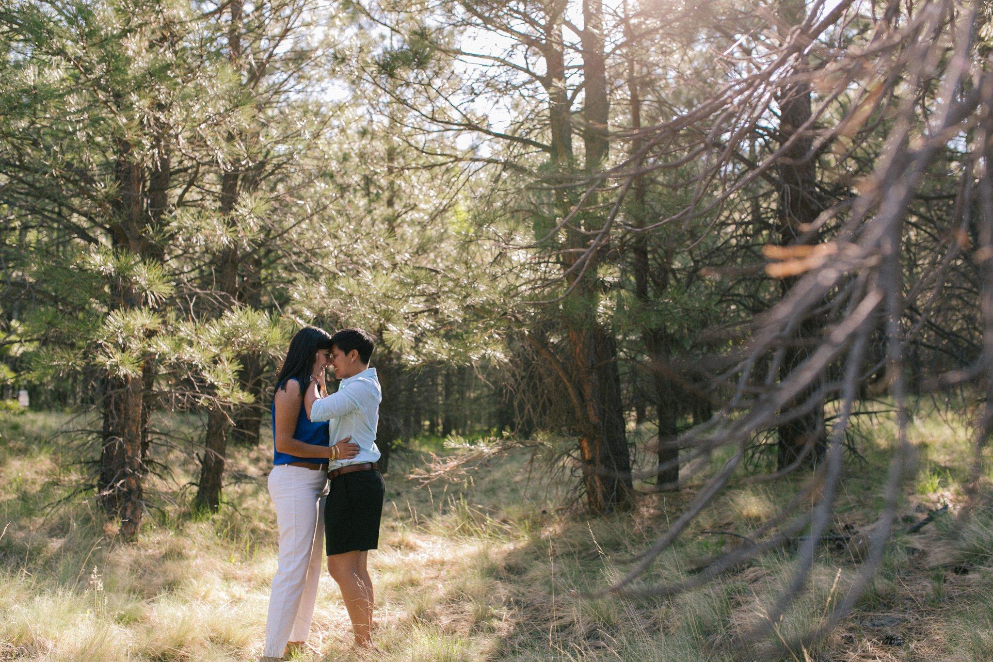same sex engagement session Flagstaff Arizona Lockett Meadow
