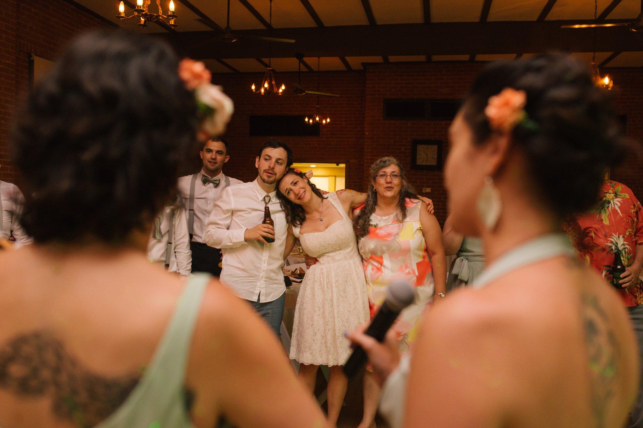 Encanto Park wedding reception candid documentary wedding photos