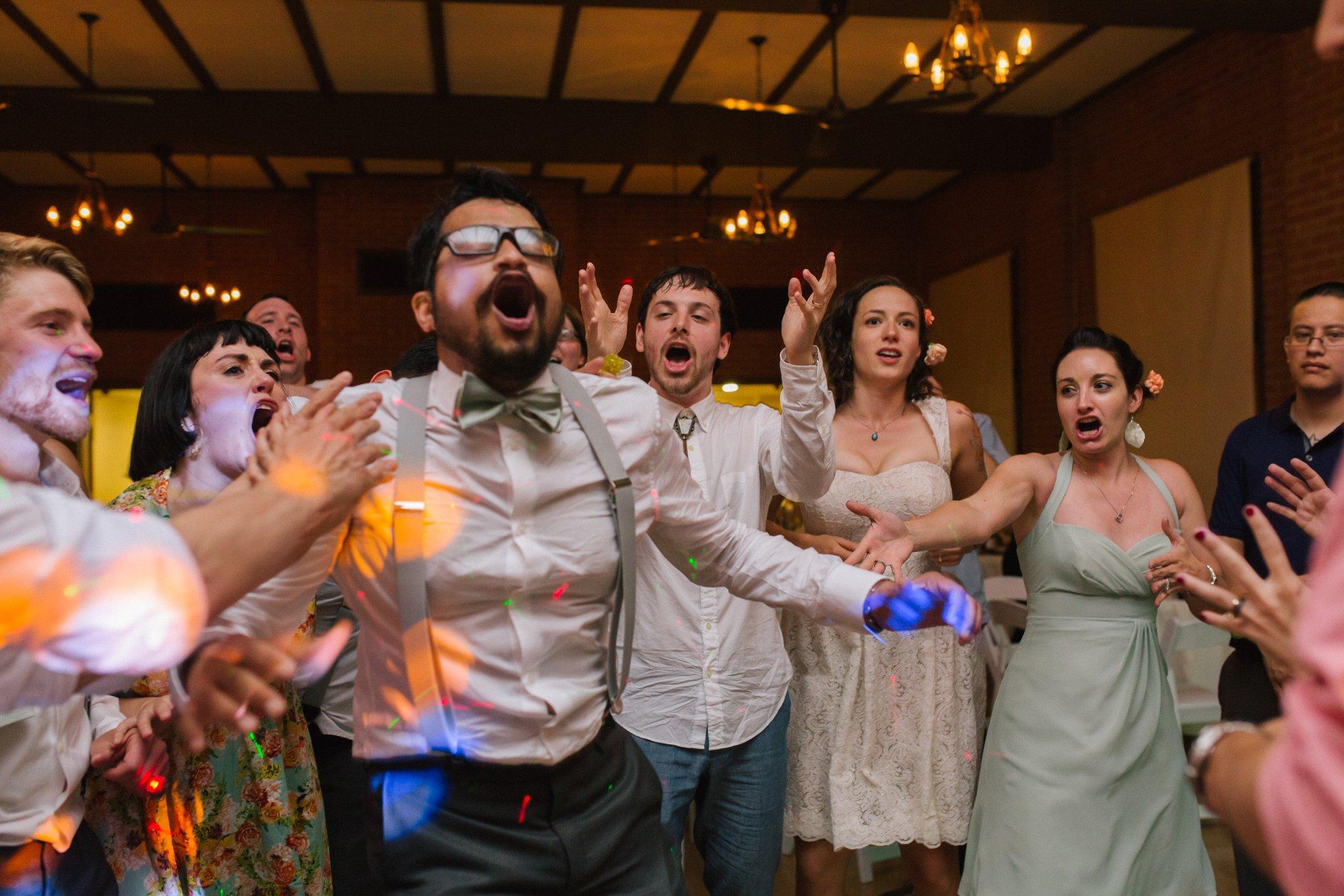 Encanto Park wedding reception dancing