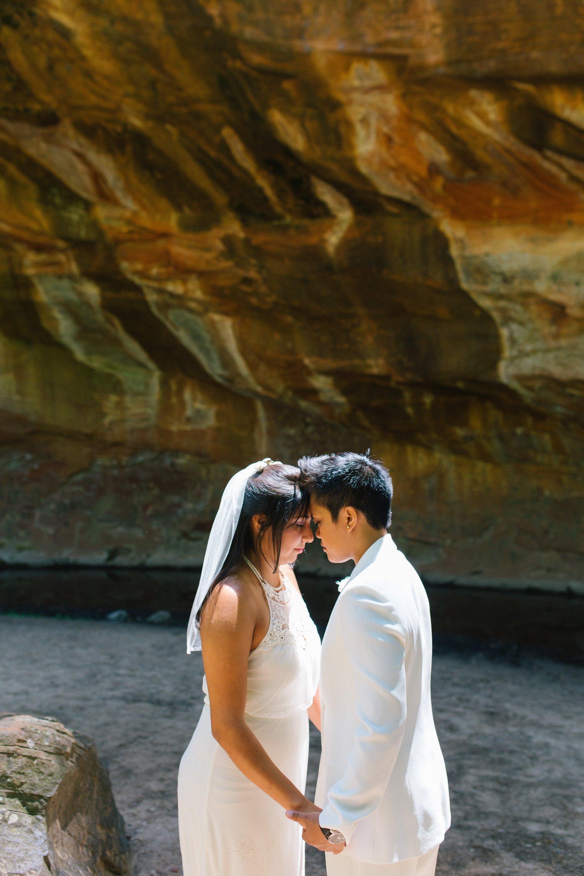 same sex elopement in West Fork Sedona