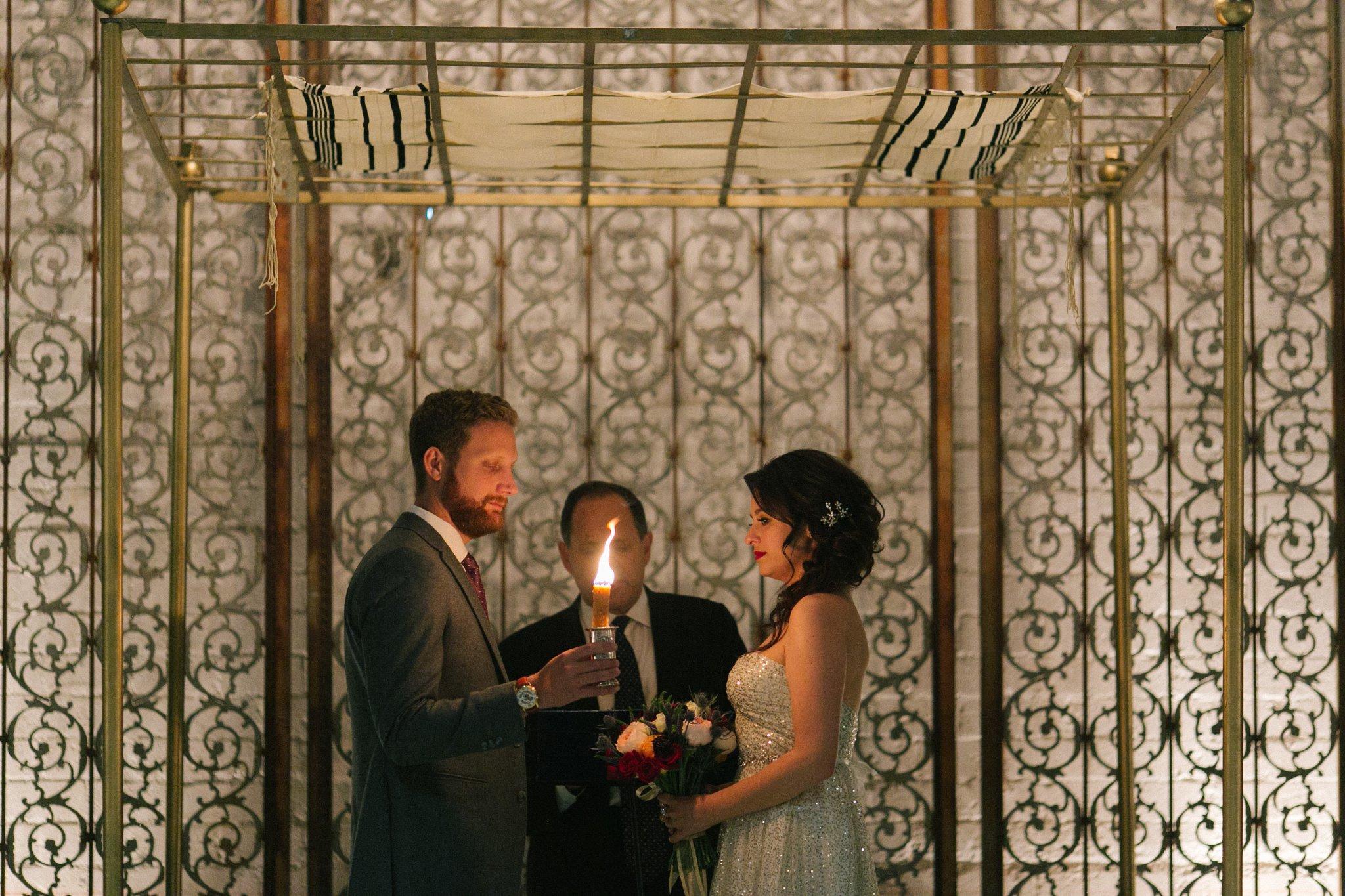 The Croft Jewish wedding ceremony Phoenix wedding photographer