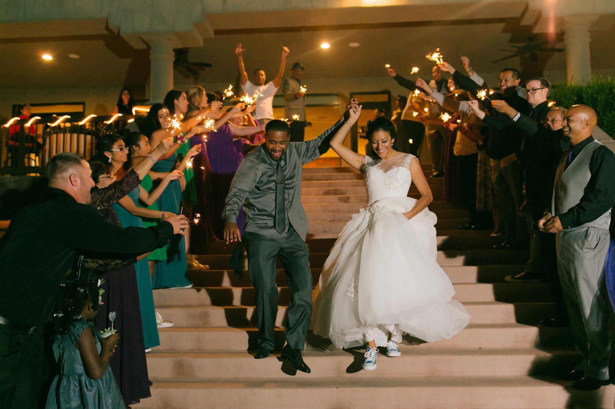 Las Sendas golf course wedding sparkler exit