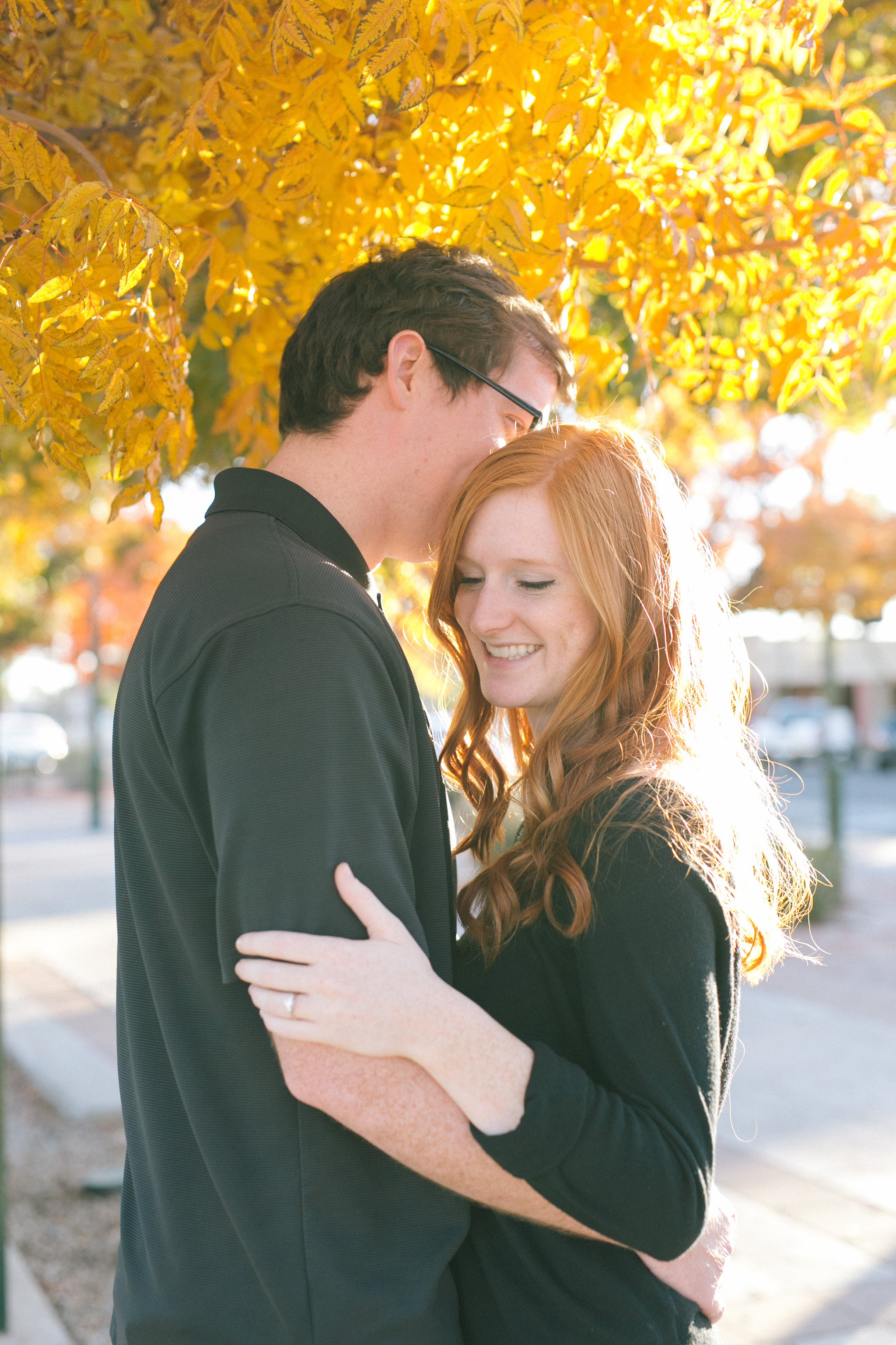 fall engagement photos in downtown Mesa