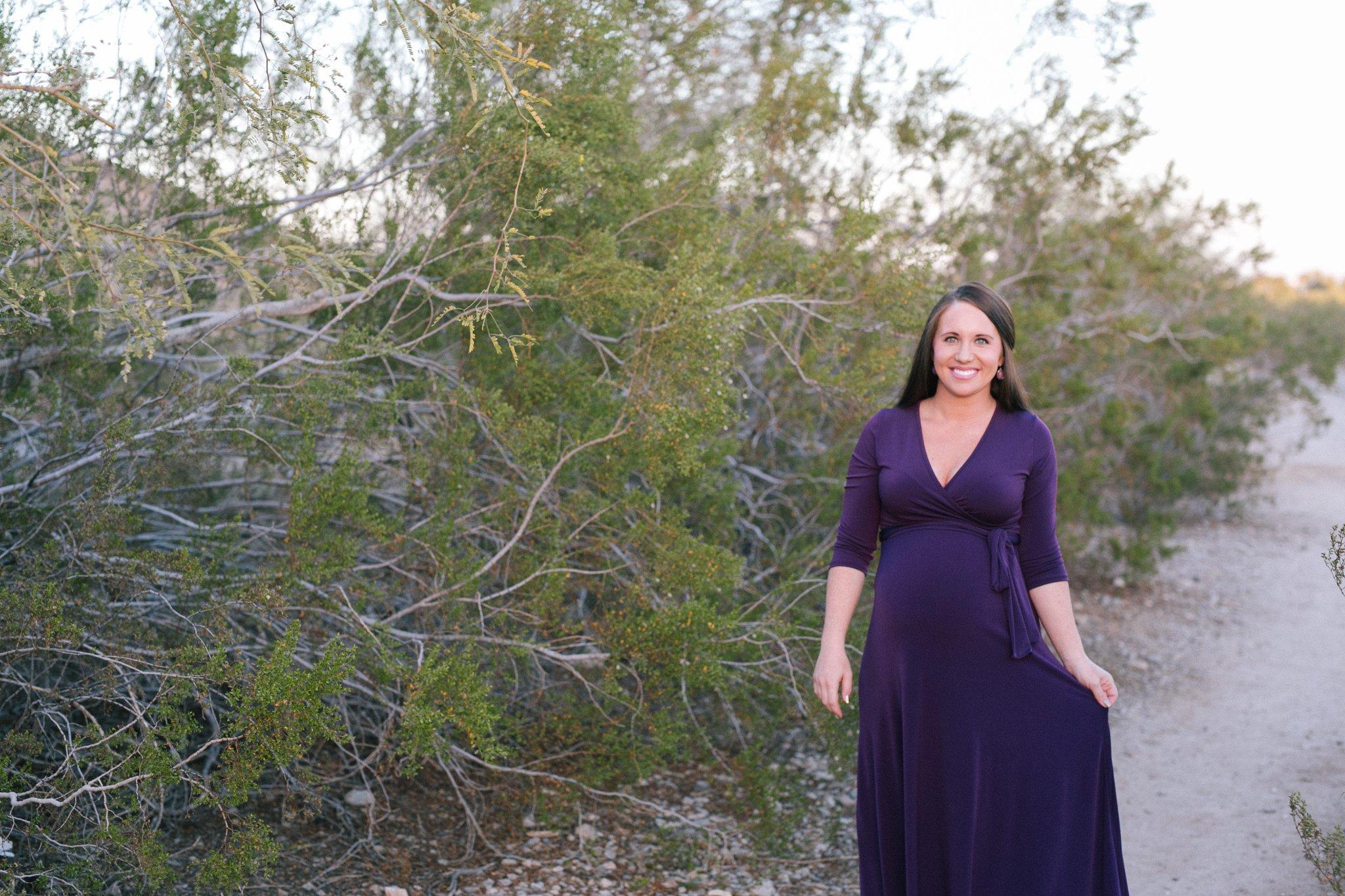 desert maternity photos at South Mountain Chandler AZ