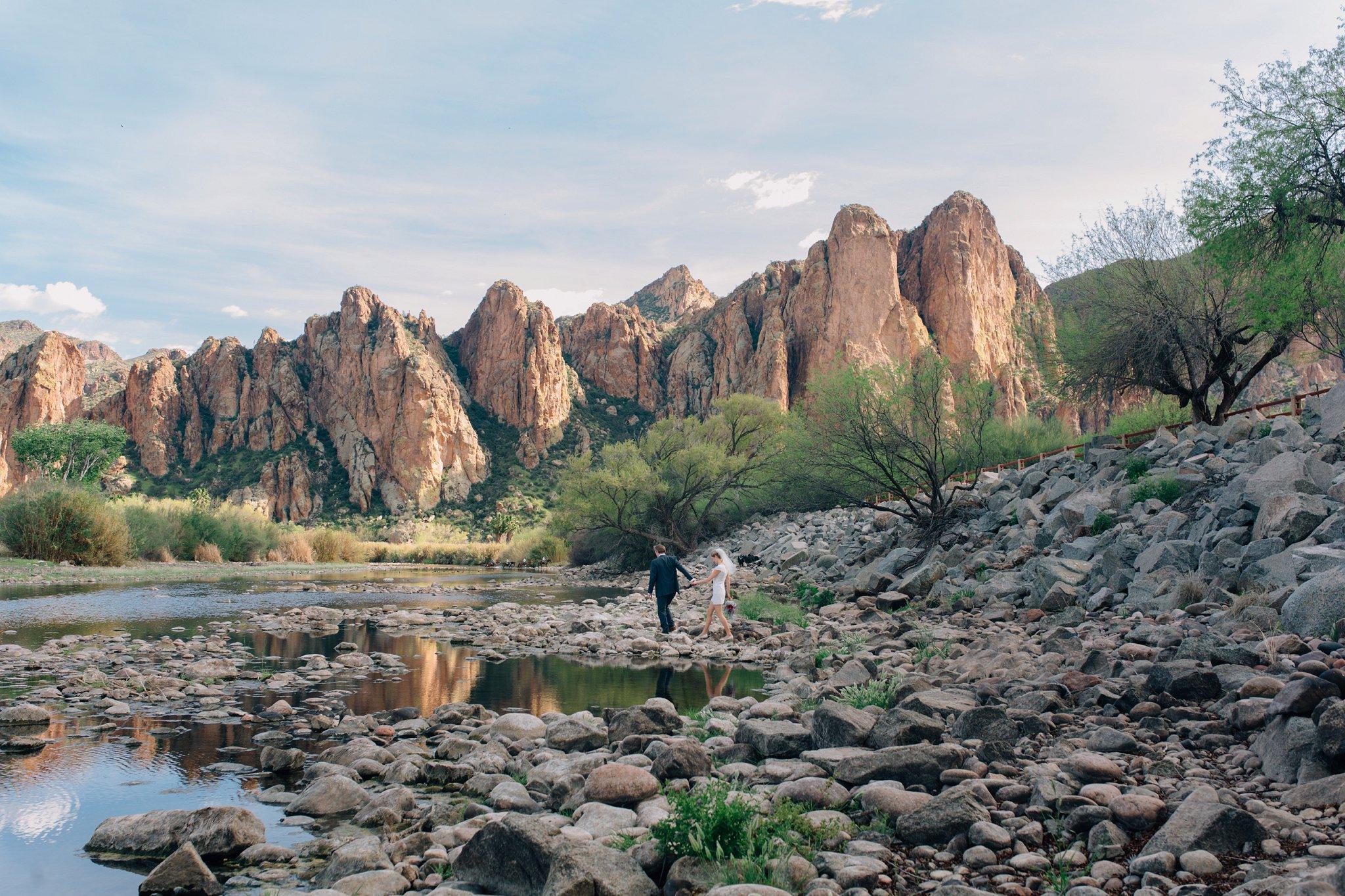 Saguaro Lake Ranch elopement in Mesa, AZ