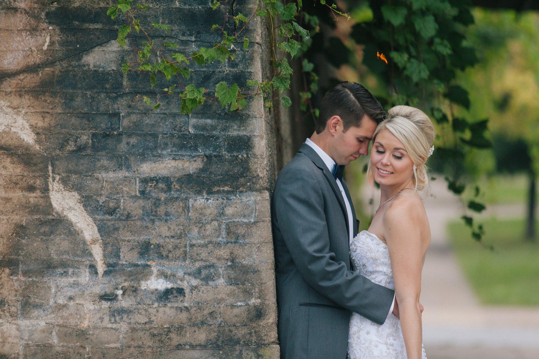 Davenport Iowa wedding bride & groom