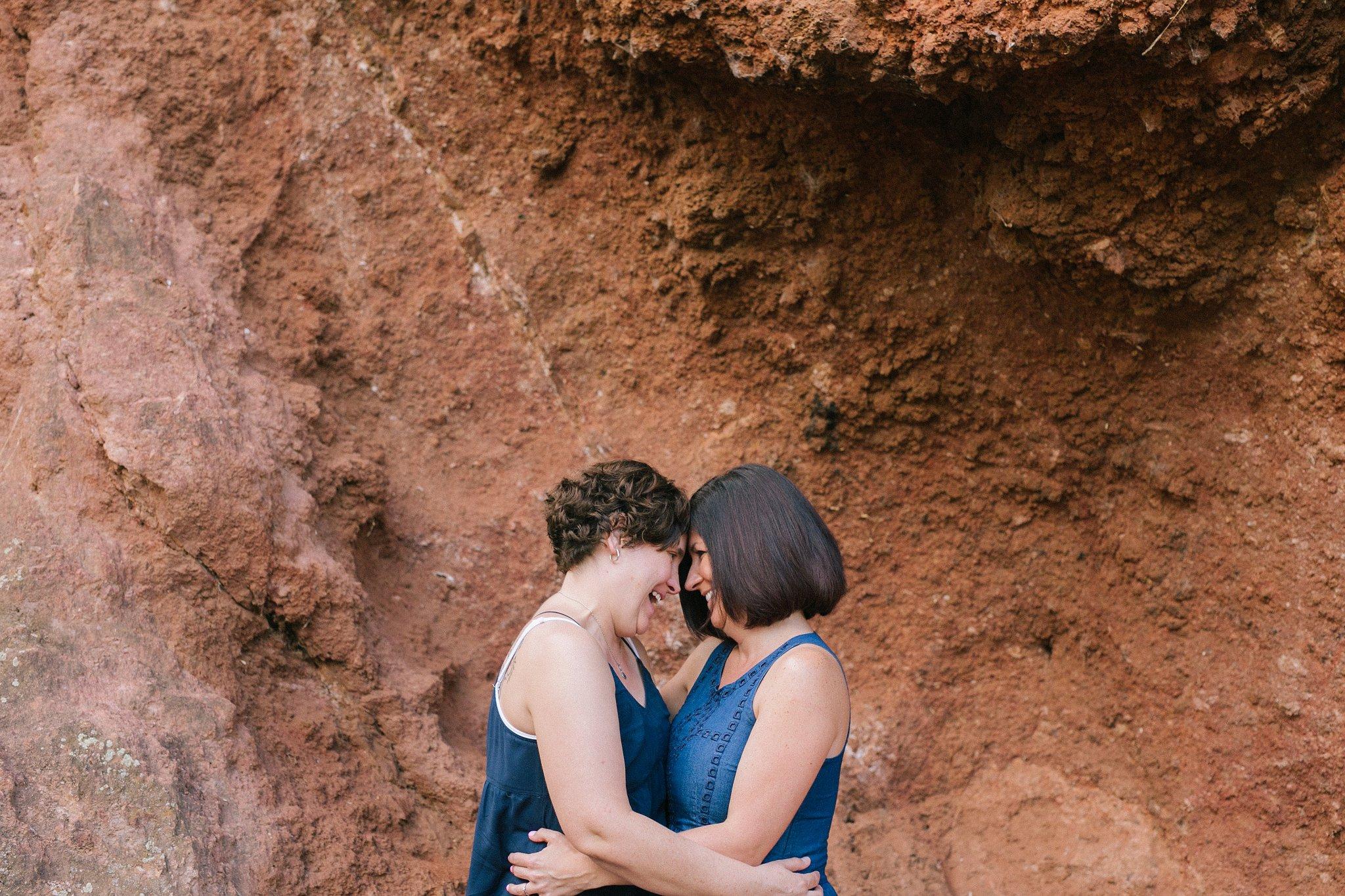 LGBT friendly Arizona documentary engagement photographer