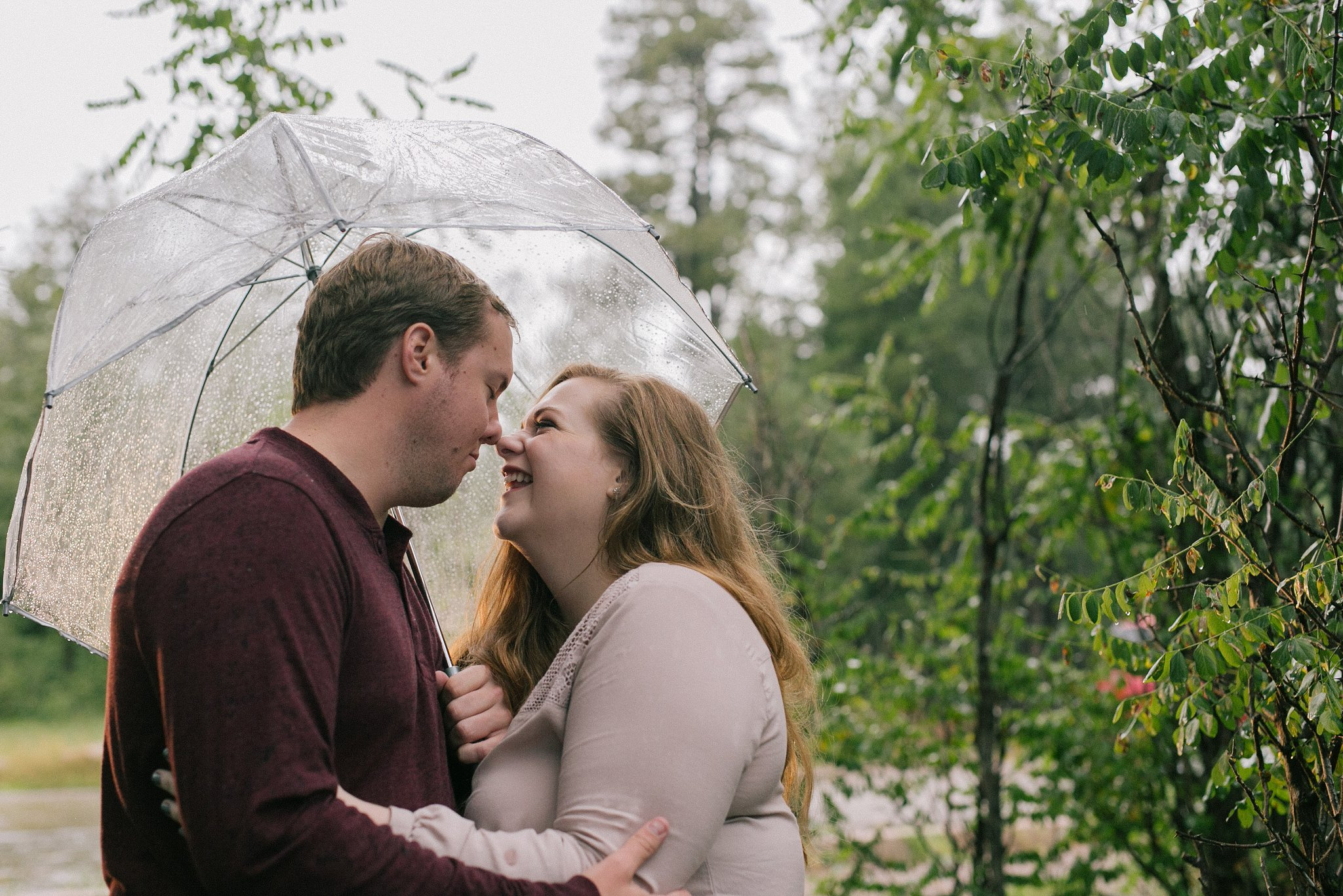 northern arizona engagement session in the rain