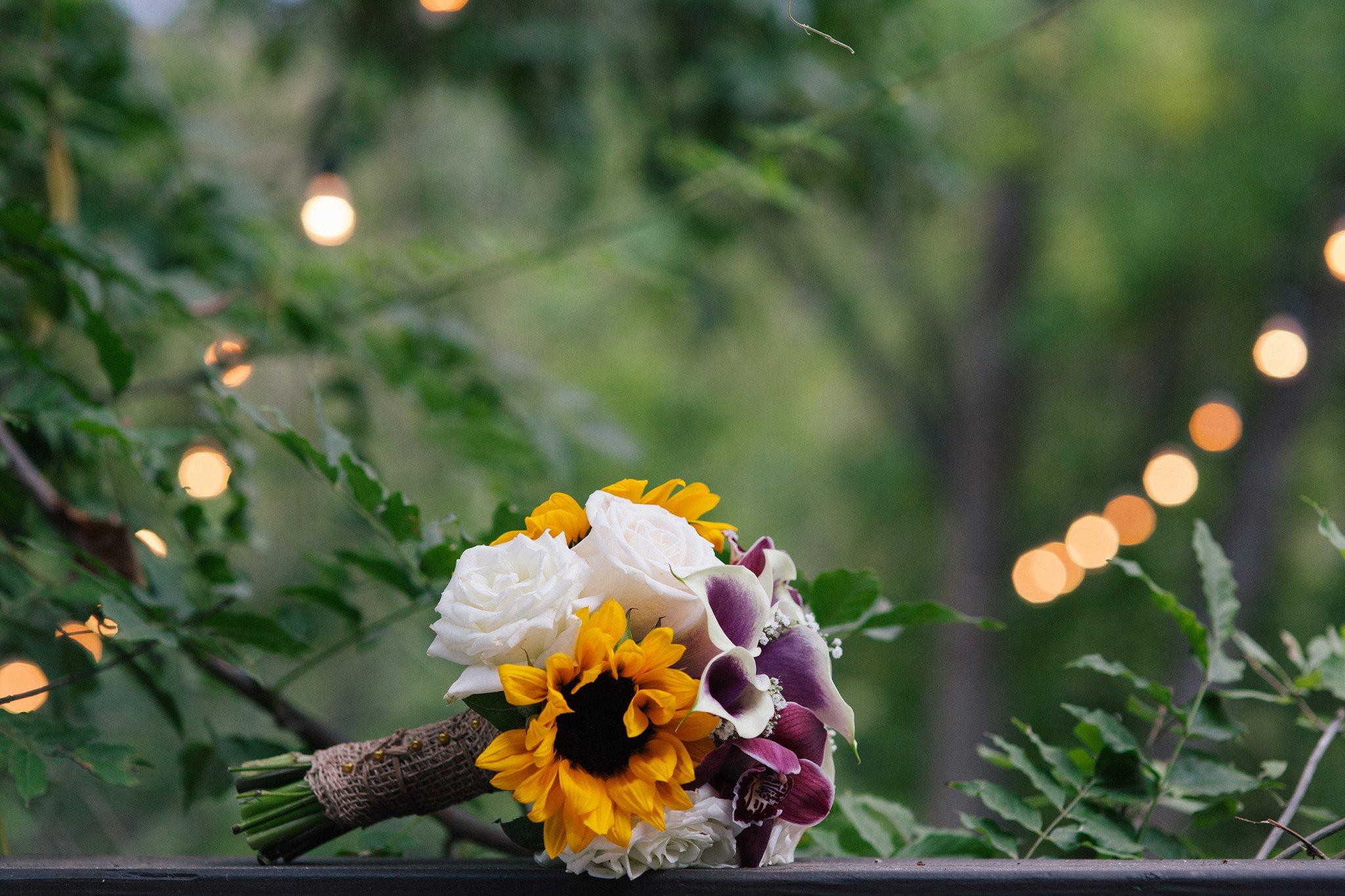 colorful wedding bouquet Sedona wedding