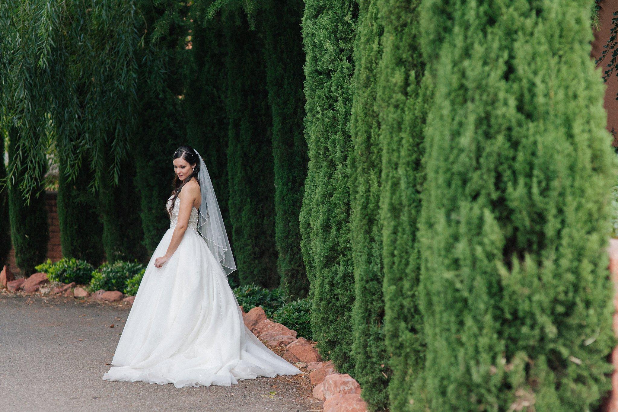Sedona bride portrait