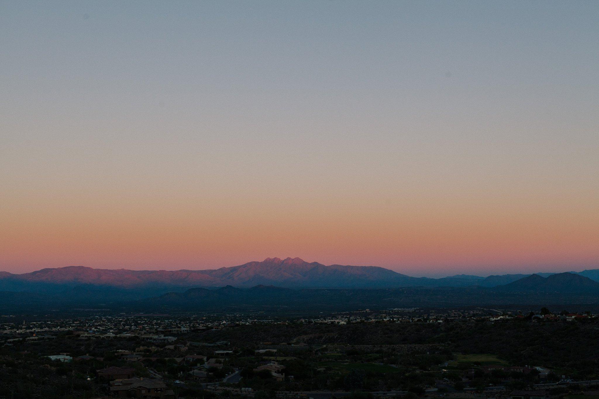 Four Peaks, Arizona at sunset