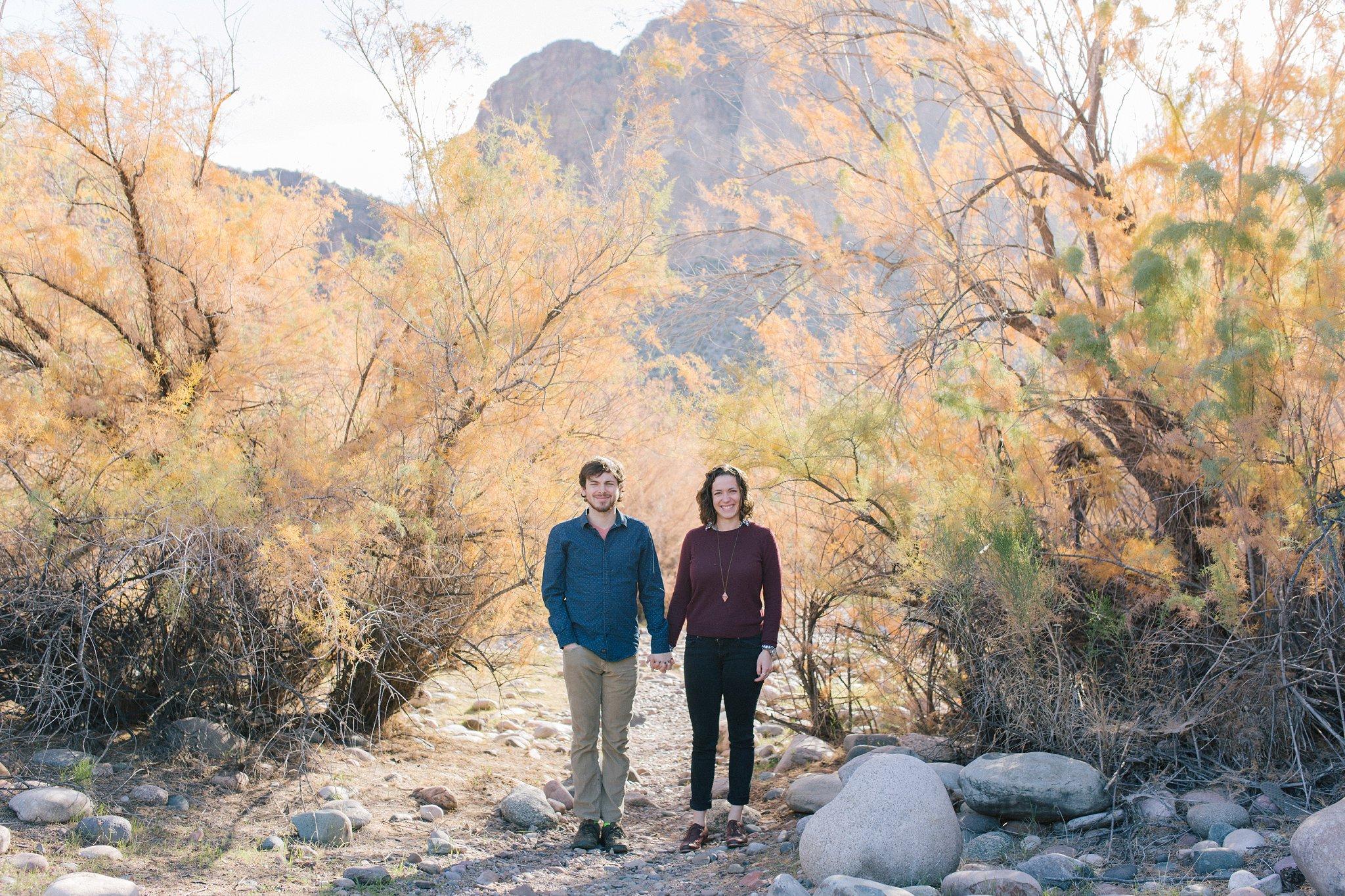 Salt River engagement photos in Arizona