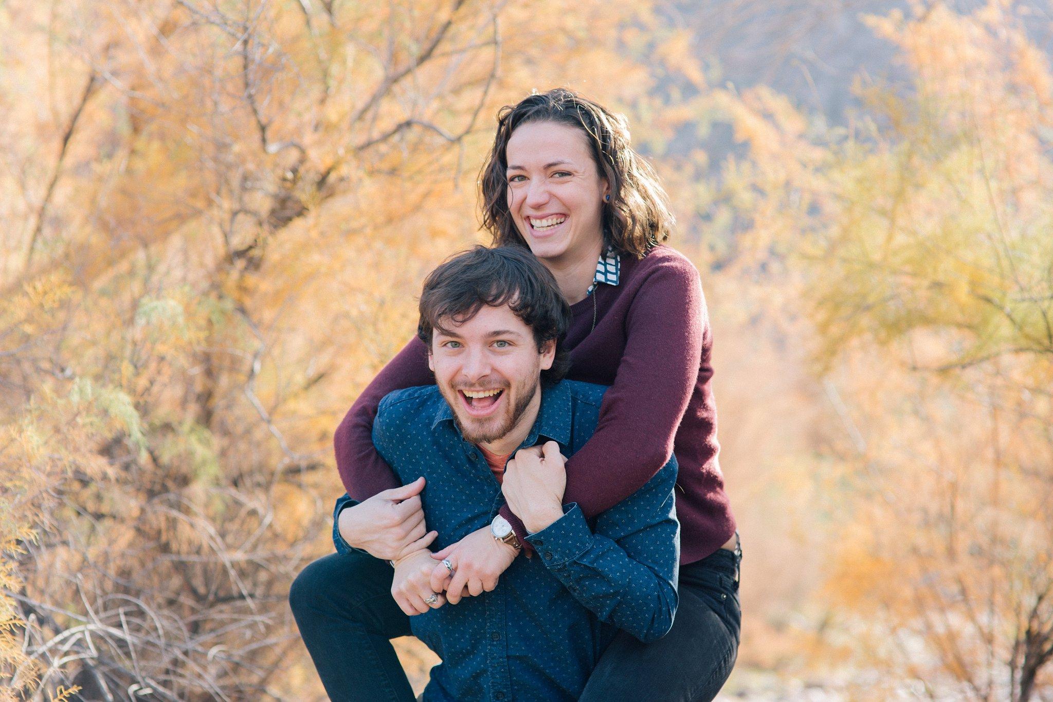 fun, lively engagement photos in Mesa, AZ