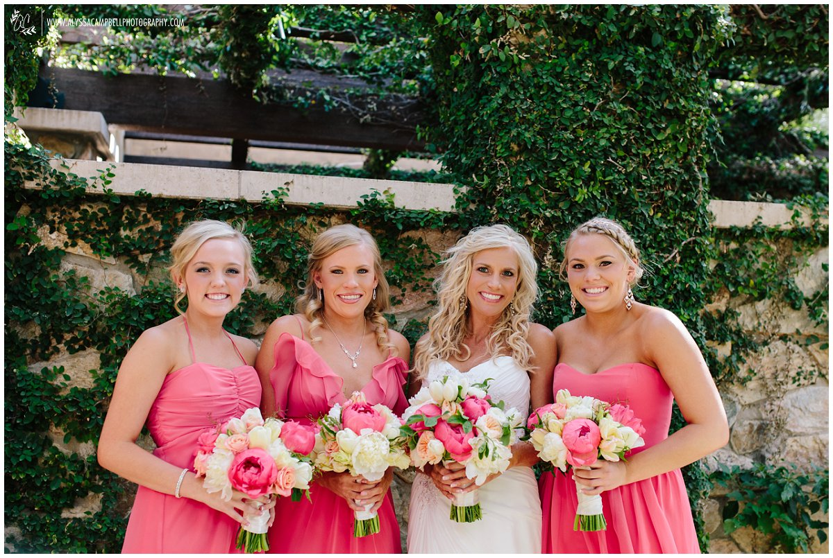 Scottsdale wedding with older bride and daughters as bridesmaids