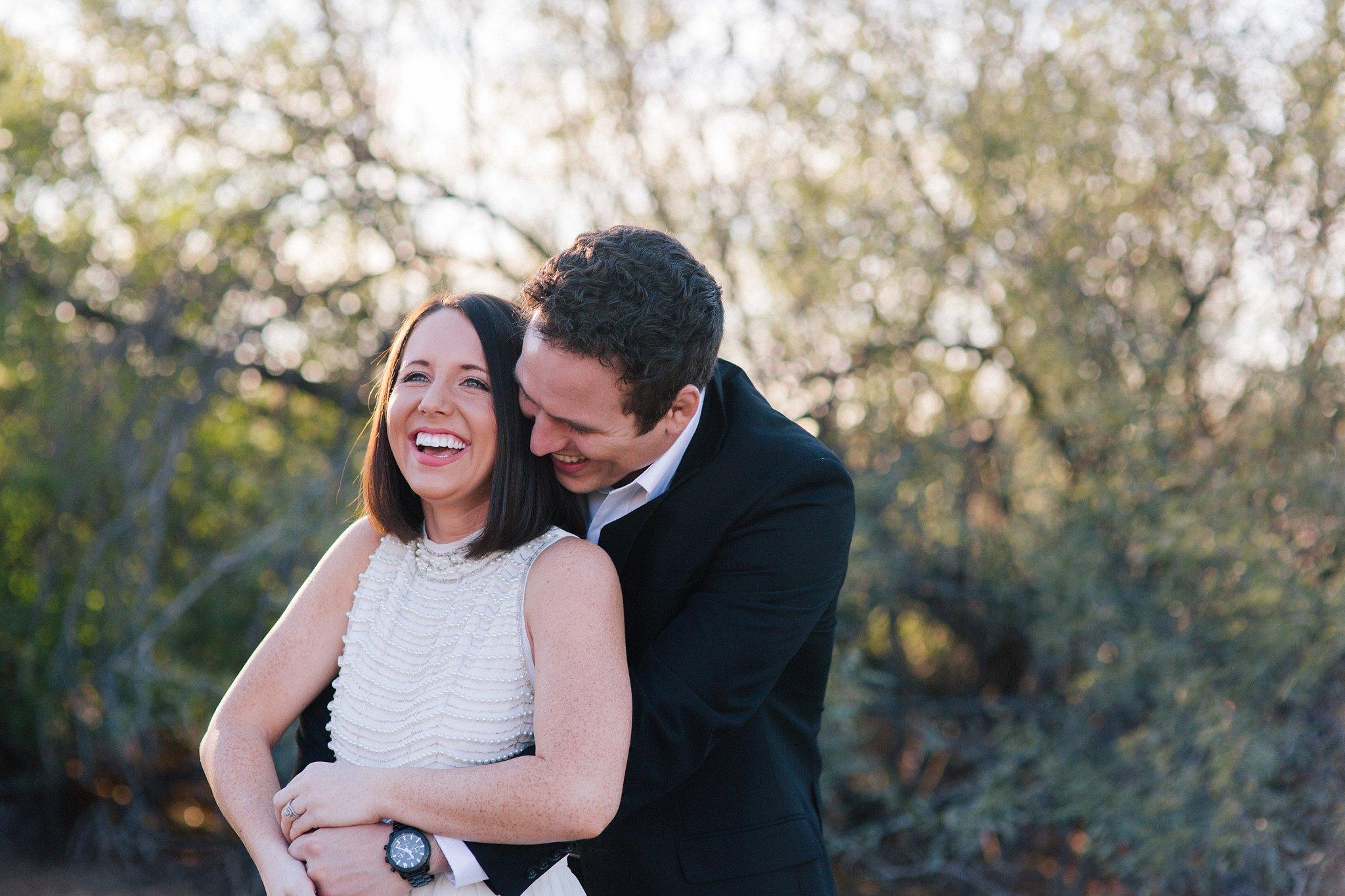 Arizona candid engagement photography