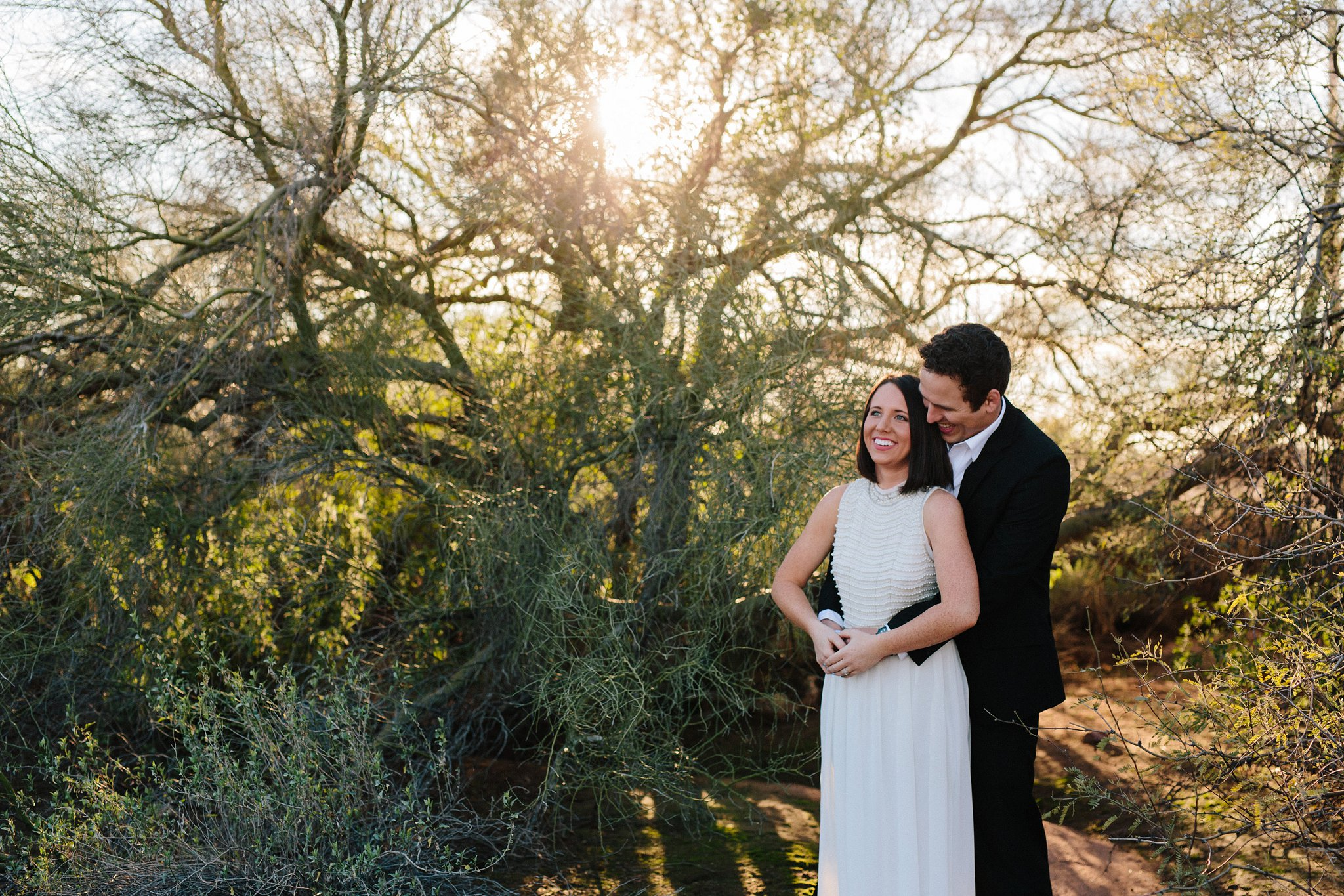 sunset desert elopement session in Mesa, AZ
