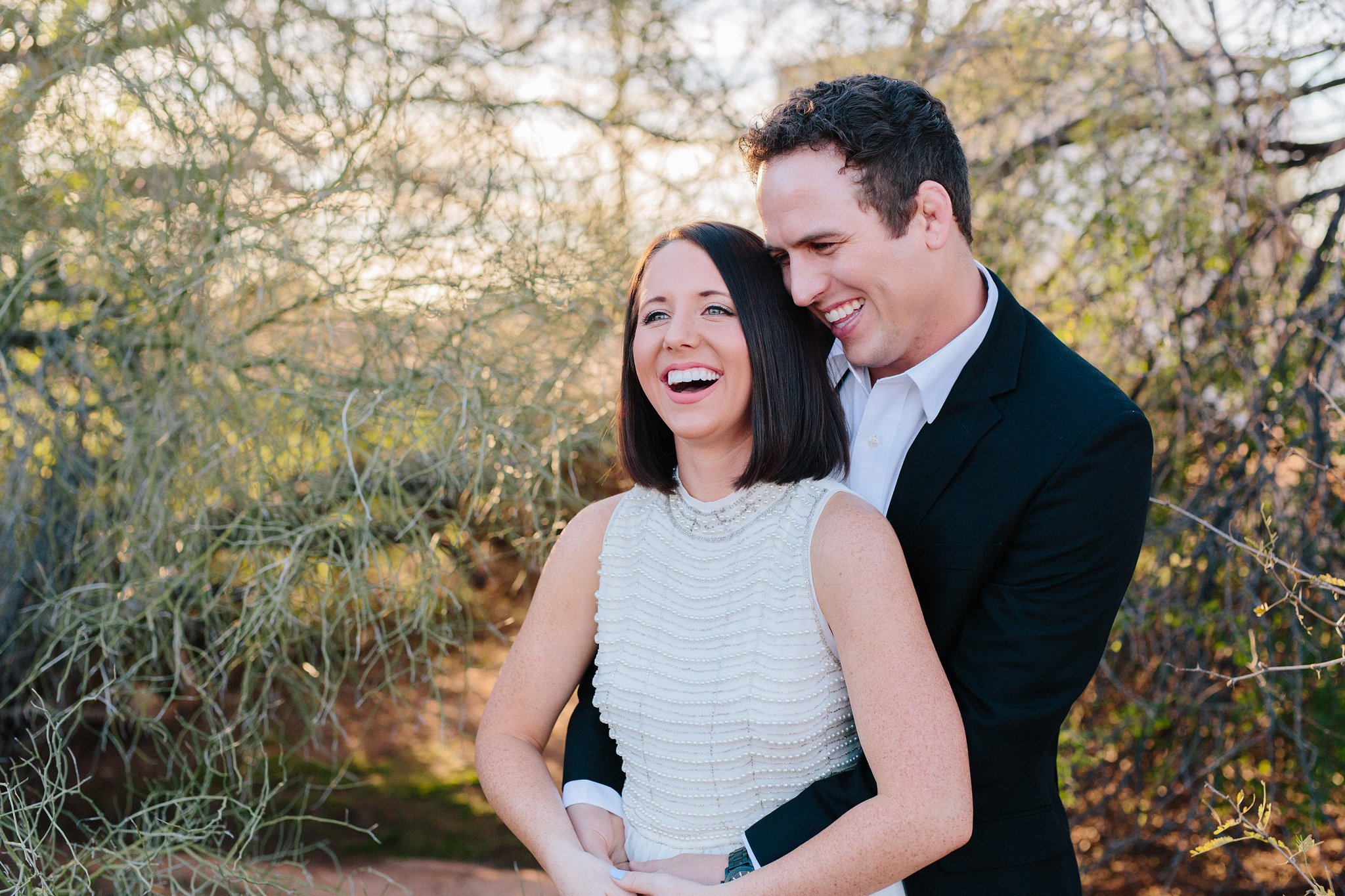 genuine natural candid elopement in Arizona desert