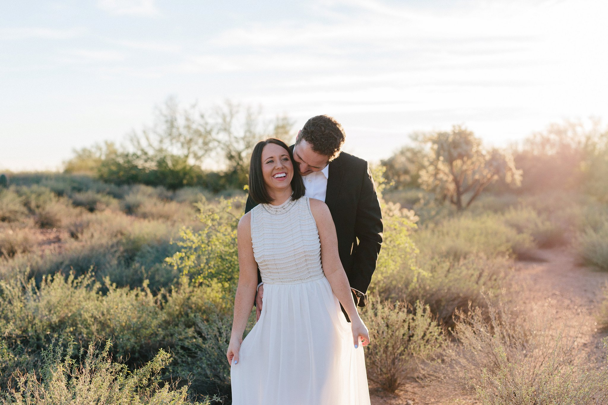 natural Arizona desert elopement photography
