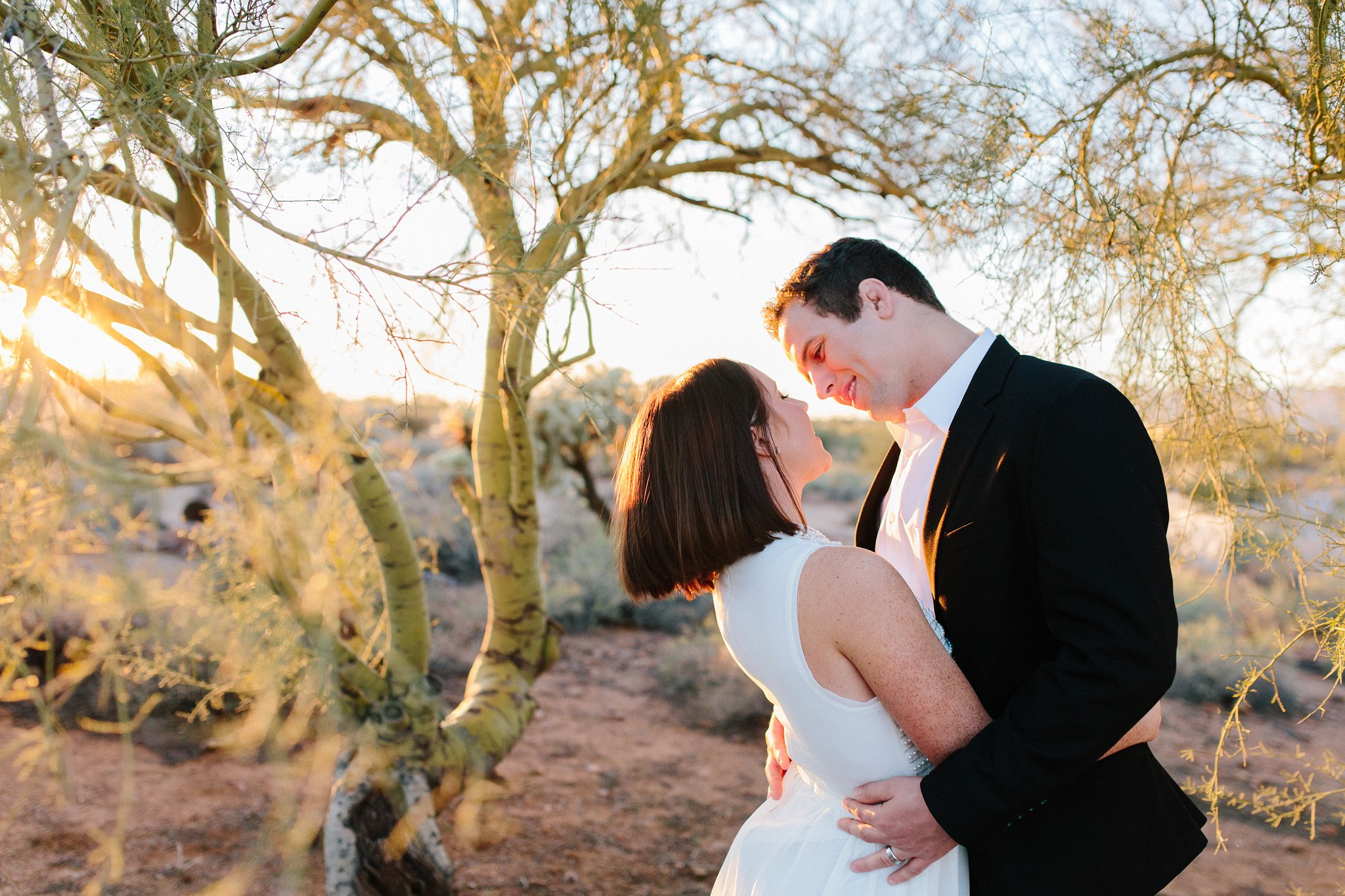 sunset desert elopement in Mesa AZ