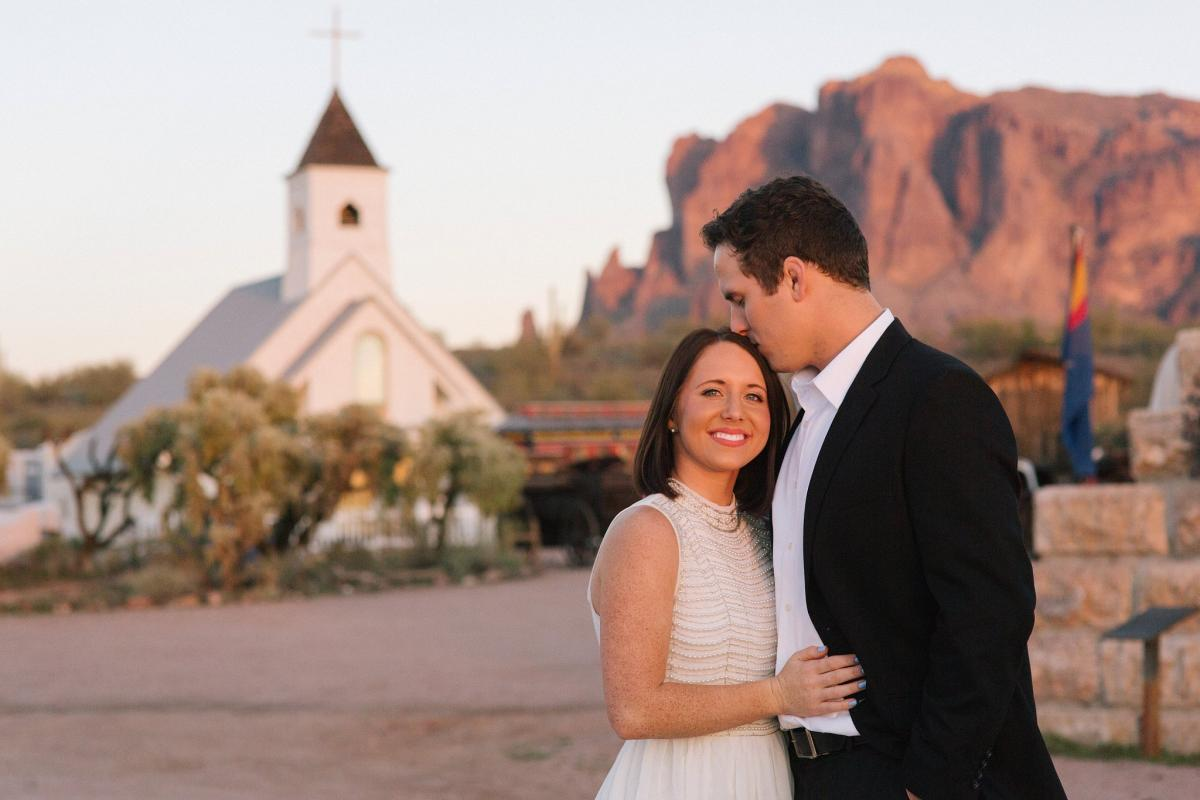 elopement at Elvis memorial chapel Superstition Mountain Museum