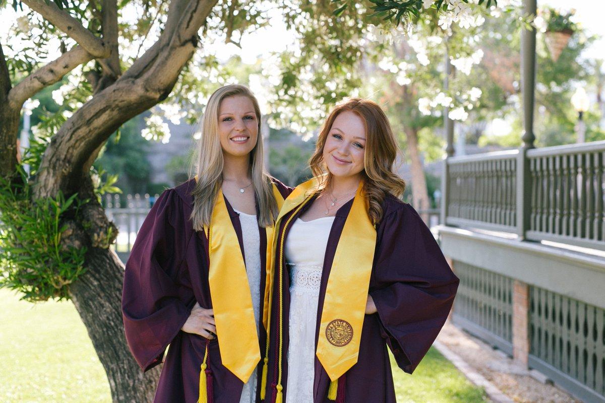 LGBT friendly couples college graduation portraits in Phoenix
