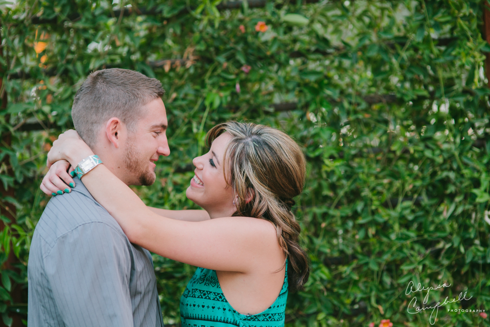 woman looking at fiance smiling in adoration