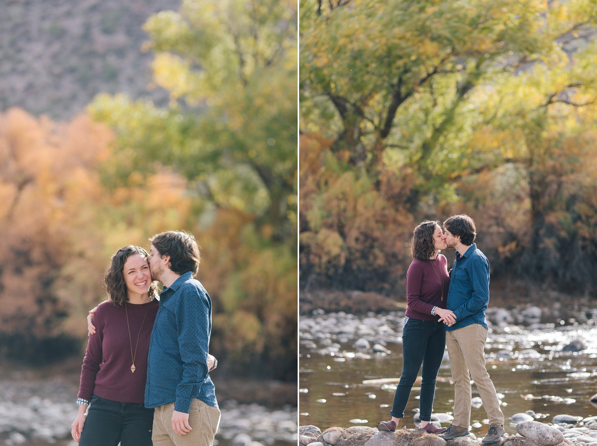 scenic outdoor river engagement session in Arizona
